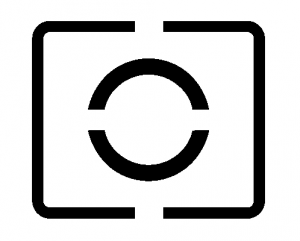 The partial metering icon for Canon DSLRs.