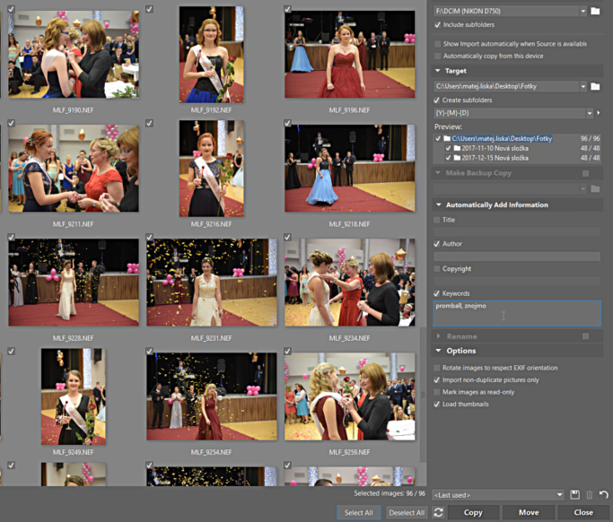 The Best Way to Download Photos? Import in Zoner Photo Studio: keywords and other metadata adding.