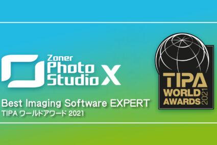 Zoner Photo Studio X が TIPA ワールドアワード2021 の「Best Imaging Software EXPERT」を受賞し、世界最高の写真編集ソフトとして認定されました。