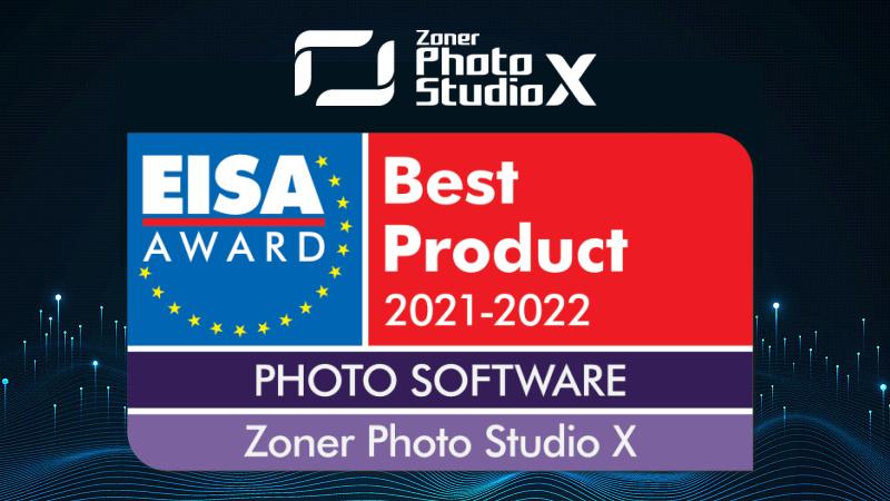 Zoner Photo Studio X、EISAアワードで「Best Product PHOTO SOFTWARE」を受賞